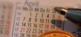 Makroaufnahme eines Taschenkalenders