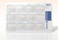 Kalenderkarte 2012 einer Versicherungsagentur mit Schulferien Bayern im Design 01