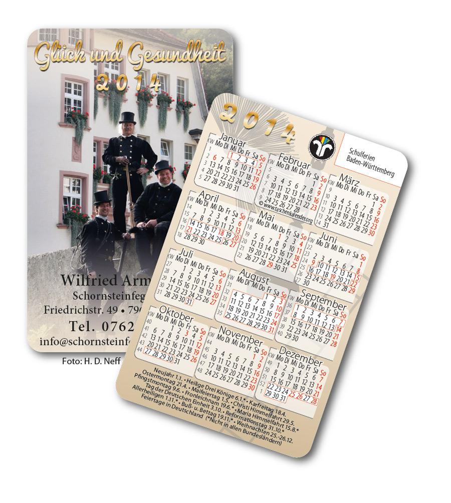 Schornsteinfeger Taschenkalender