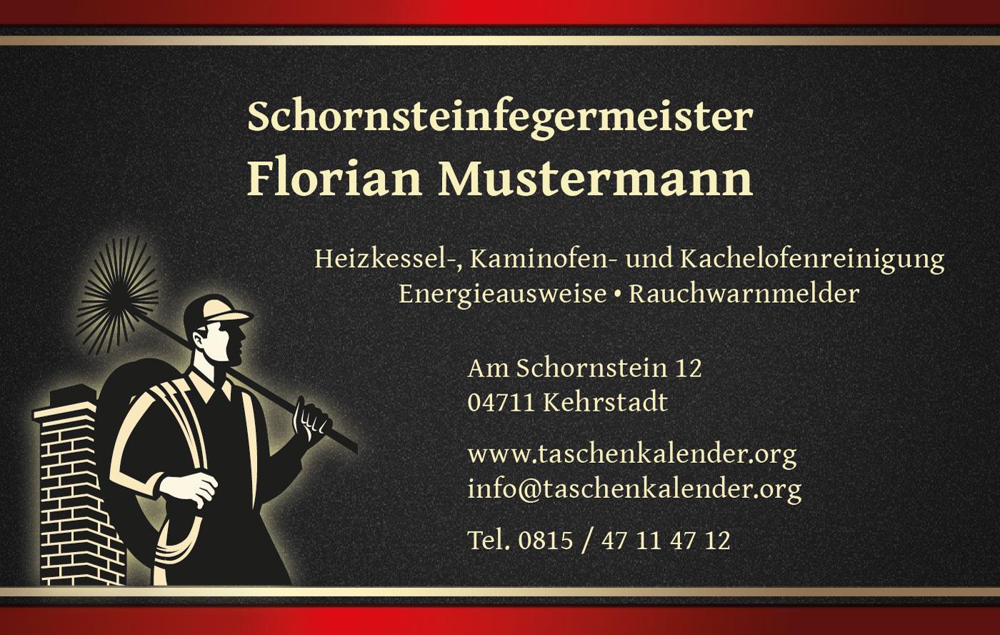 Design Visitenkarte für Schornsteinfeger