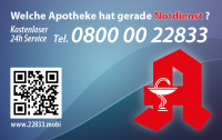 Apotheken-Notdienstkarte Typ B