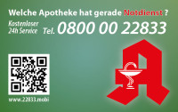 Apotheken-Notdienstkarte Typ M