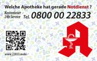 Apotheken-Notdienstkarte Typ R