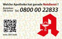 Apotheken-Notdienstkarte Typ S