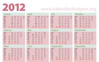 Alternatives Design eines Taschenkalenders 2012 im Querformat