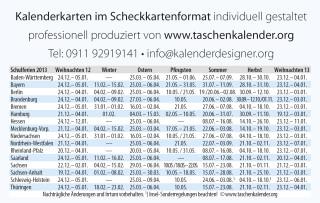 schulferientabelle 2013