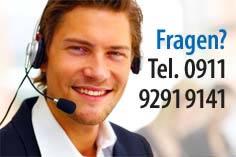 Telefonische Hotline: Tel. 0911 9291 9141